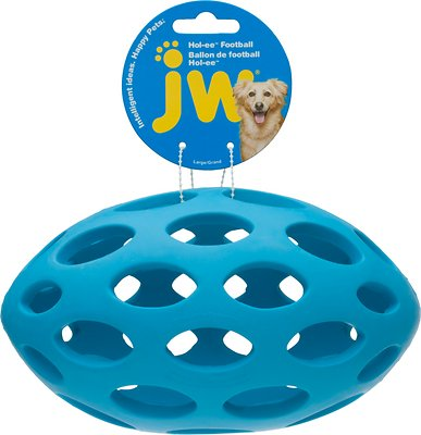 JW Pet Hol-ee Football Dog Toy, Color Varies, Large