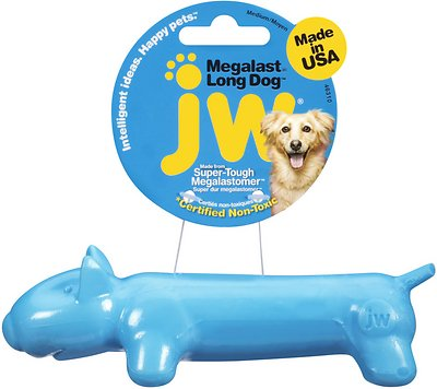 "JW Pet Megalast ""Long Dog"" Dog Toy, Color Varies, Medium"