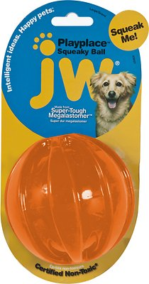 JW Pet Play Place Squeaky Dog Ball, Color Varies, Large