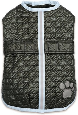 Zack & Zoey Quilted Thermal Nor'Easter Dog Coat, Green, X-Large