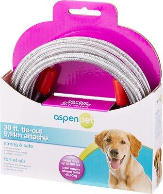 Aspen Pet Large Tie-Out Cable, 30-ft