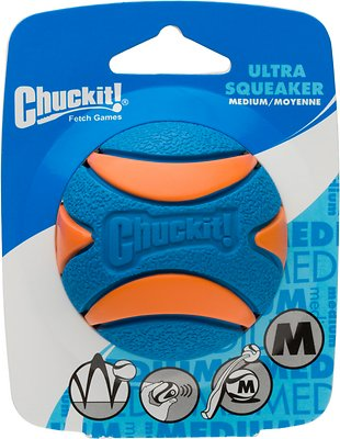 Chuckit! Ultra Squeaker Ball, Medium, 1 count