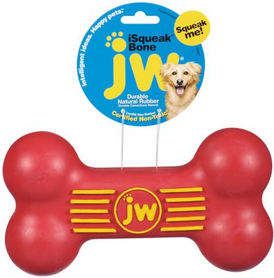 JW Pet iSqueak Bone Dog Toy, Color Varies, Large