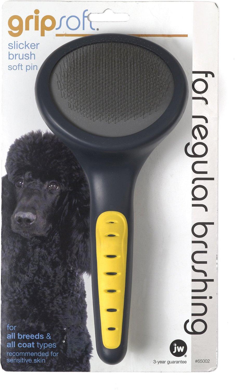 JW Pet Gripsoft Slicker Brush Soft Pin