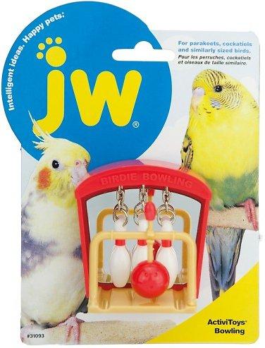 JW Pet Activitoy Birdie Bowling Toy, Small/Medium