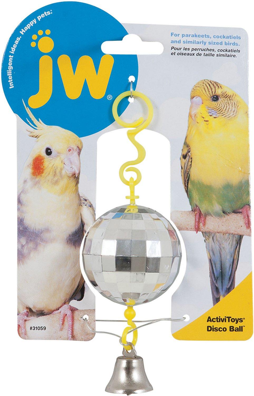 JW Pet Activitoy Birdie Disco Ball Toy, Small/Medium
