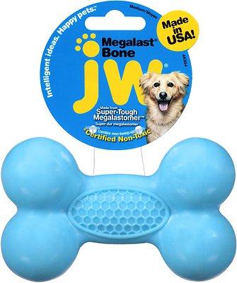 JW Pet Megalast Bone Dog Toy, Color Varies, Medium