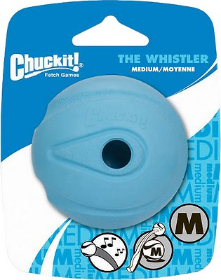 Chuckit! The Whistler Ball, Color Varies, Medium