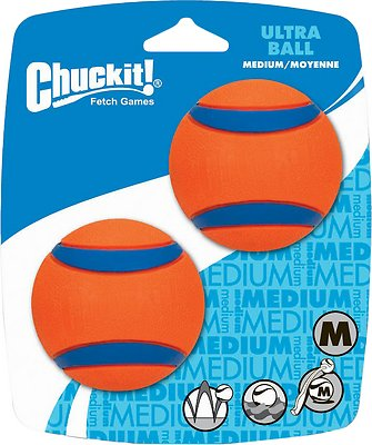 Chuckit! Ultra Rubber Ball Dog Toy, 2 pack