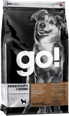 Petcurean Dog Go! Sensitivity + Shine Limited Ingredient Venison Recipe Grain-Free Dry Dog Food, 25-lb bag