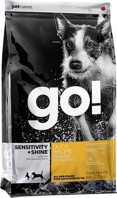 Petcurean Dog Go! Sensitivity + Shine Duck Recipe Dry Dog Food, 12-lb bag