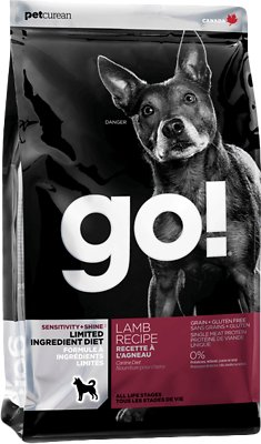 Petcurean Dog Go! Sensitivity + Shine LID Lamb Recipe Grain-Free Dry Dog Food
