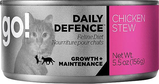 Petcurean Cat Go! Daily Defence Chicken Stew Canned Cat Food, 5.5-oz