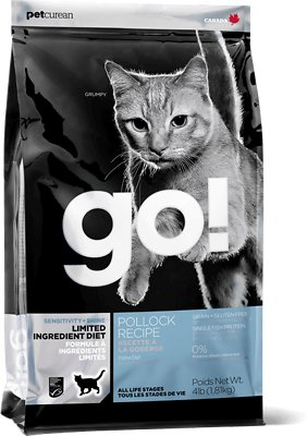 Petcurean Cat Go! Sensitivity + Shine LID Pollock Recipe Grain-Free Dry Cat Food