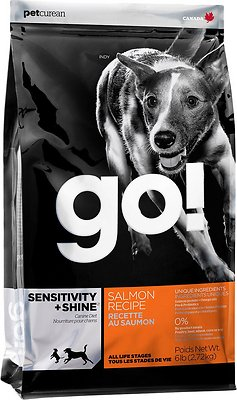 Petcurean Dog Go! Sensitivity + Shine Salmon Recipe Dry Dog Food, 12-lb bag