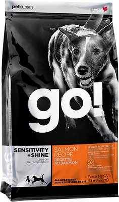 Petcurean Dog Go! Sensitivity + Shine Salmon Recipe Dry Dog Food