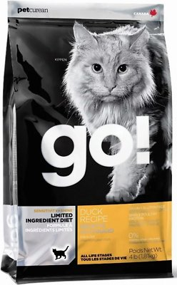 Petcurean Cat Go! Sensitivity + Shine Limited Ingredient Diet Duck Recipe Grain-Free Dry Cat Food
