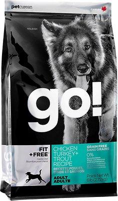 Petcurean Dog Go! Fit + Free Grain-Free Chicken, Turkey & Trout Recipe Adult Dry Dog Food