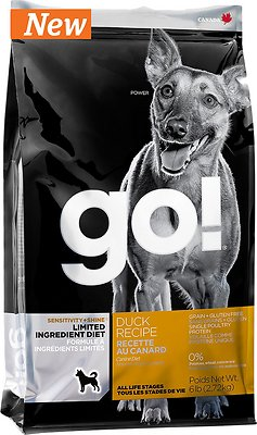 Petcurean Dog Go! Sensitivity + Shine Limited Ingredient Diet Duck Recipe Grain-Free Dry Dog Food, 6-lb bag
