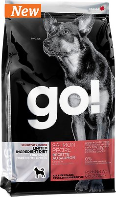 Petcurean Dog Go! Sensitivity + Shine Limited Ingredient Diet Salmon Recipe Grain-Free Dry Dog Food, 25-lb bag