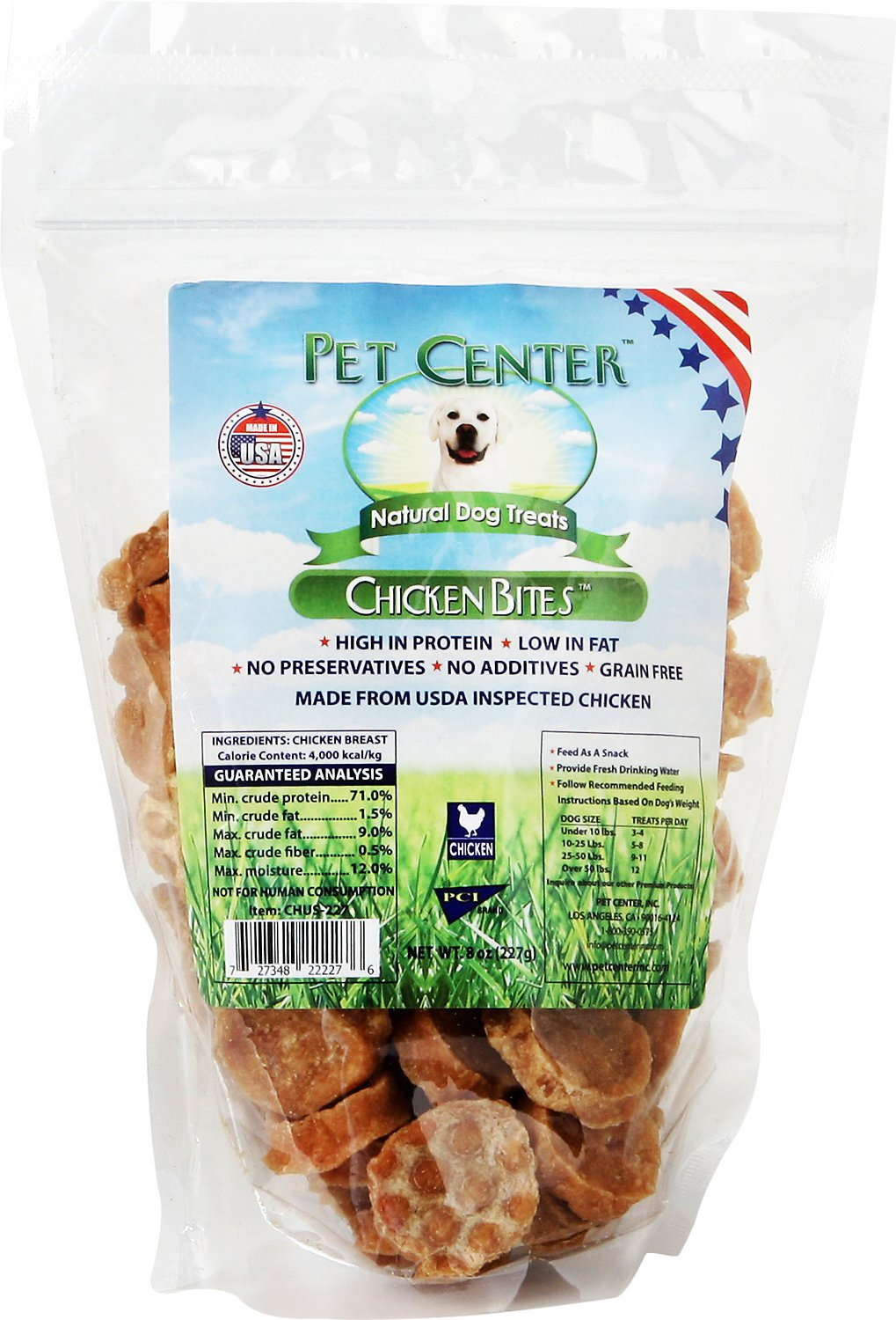 Pet Center Chicken Bites Dog Treats, 8-oz bag