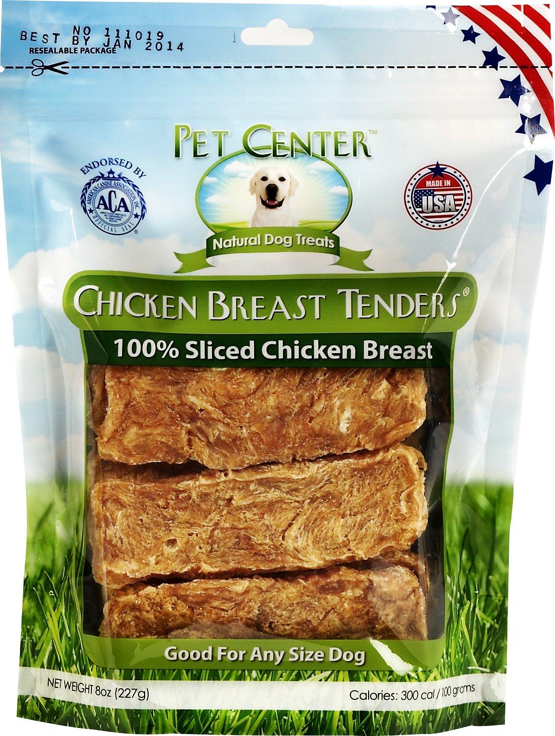 Pet Center Sliced Chicken Breast Tenders Dog Treats, 8-oz bag