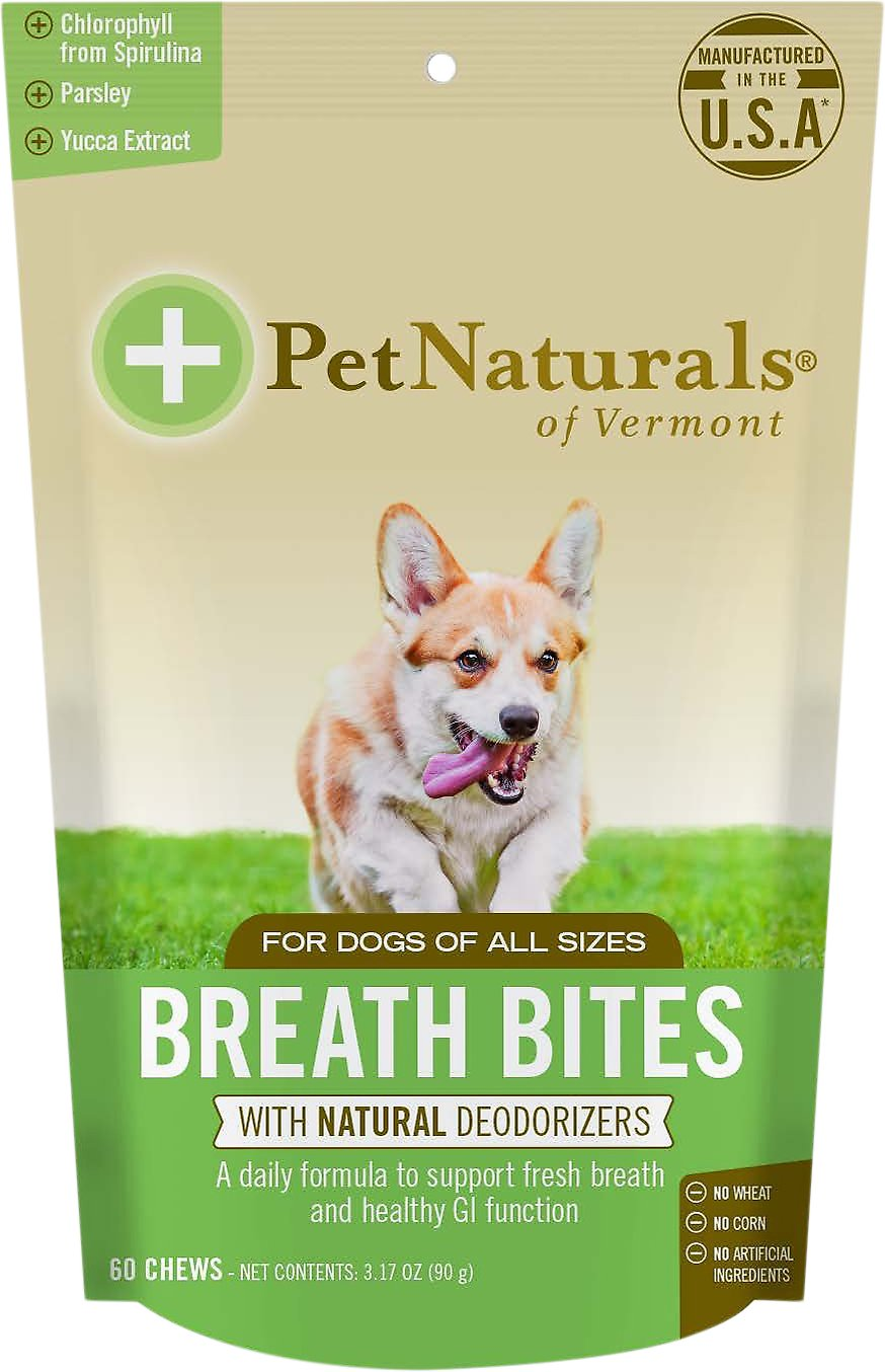 Pet Naturals of Vermont Breath Bites Dog Chews, 60 count