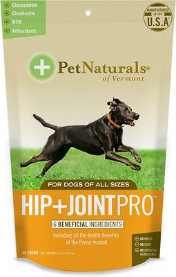 Pet Naturals of Vermont Hip & Joint Pro Dog Chews, 60-count