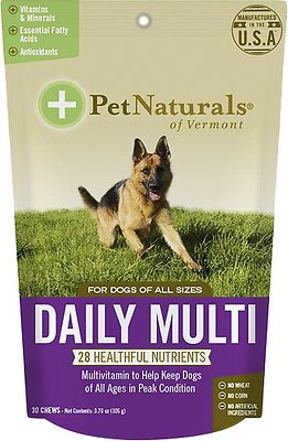 Pet Naturals of Vermont Daily Multi Dog Chews, 30-count