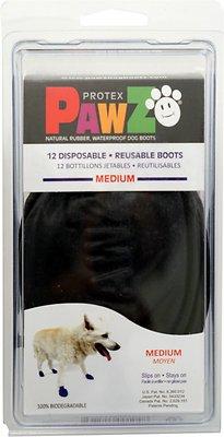 Pawz Waterproof Dog Boots, Black