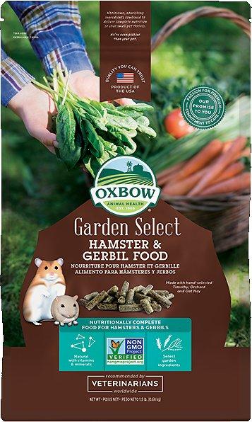 Oxbow Garden Select Hamster & Gerbil Food, 1.5-lb bag