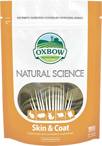 Oxbow Natural Science Skin & Coat Small Animal Supplement, 60 count