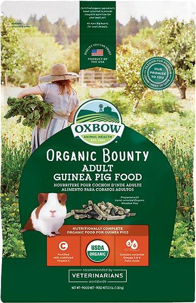 Oxbow Organic Adult Guinea Pig Food, 3-lb bag