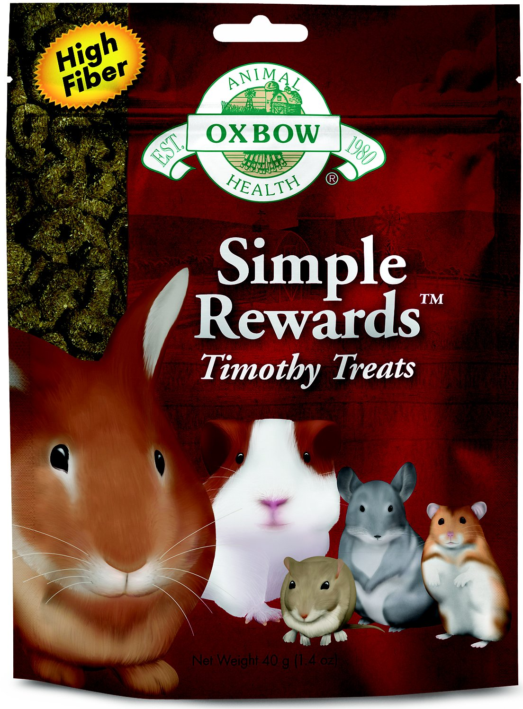 Oxbow Simple Rewards Timothy Small Animal Treats, 1.4-oz bag