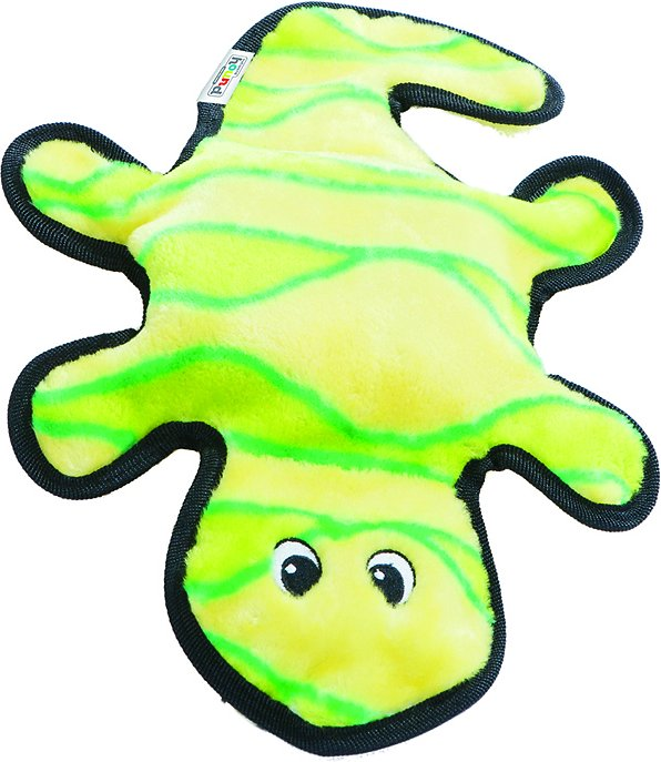 Outward Hound Invincibles Geckos Squeak Dog Toy, 2-Squeak Yellow