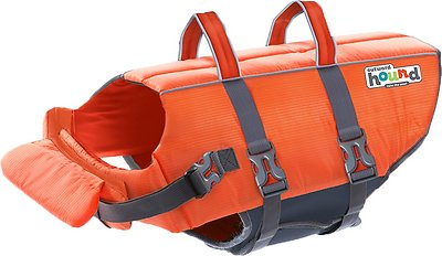 Outward Hound Granby RipStop Dog Life Jacket, Large Bright Orange