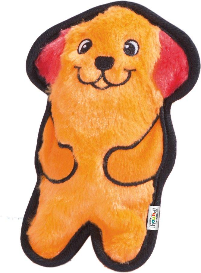 Outward Hound Invincibles Minis Dog Toy, Orange Dog