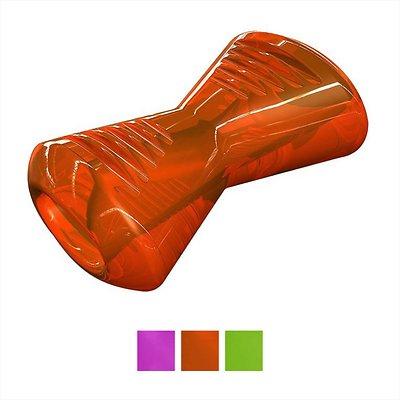 Bionic Bone Dog Toy, Orange, Medium
