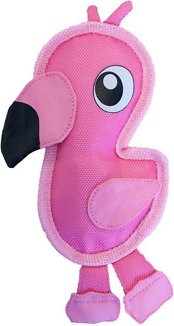 Outward Hound Fire Biterz Flamingo Dog Toy, Small