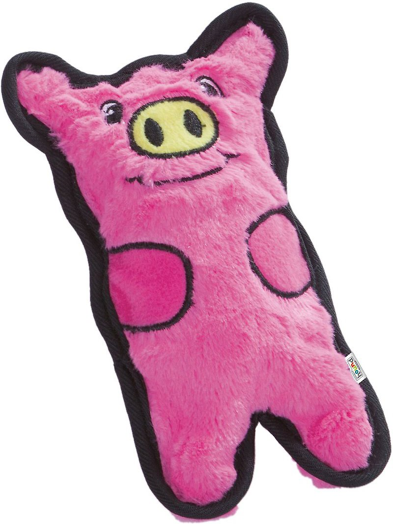 Outward Hound Invincibles Minis Dog Toy, Pink Pig