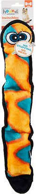 Outward Hound Invincibles Snakes Red/Orange Squeak Dog Toy, 3-Squeak Orange