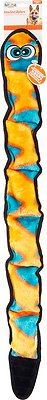Outward Hound Invincibles Snakes Red/Orange Squeak Dog Toy, 6-Squeak Orange