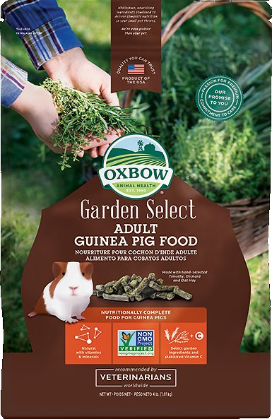 Oxbow Garden Select Adult Guinea Pig Food, 4-lb bag