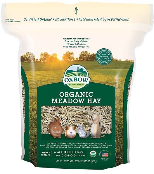 Oxbow Organic Meadow Hay Small Animal Food, 15-oz bag