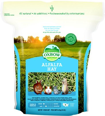 Oxbow Alfalfa Hay Small Animal Food, 15-oz bag