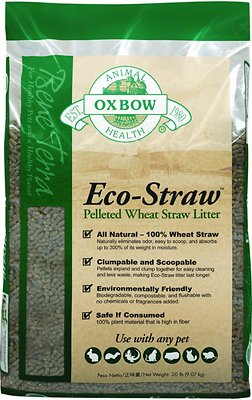 Oxbow Bene Terra Eco-Straw Pelleted Wheat Straw Small Animal Litter, 20-lb bag