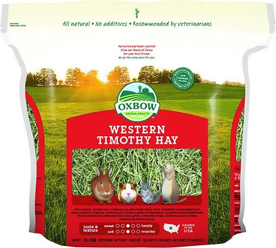 Oxbow Western Timothy Hay Small Animal Food, 40-oz bag