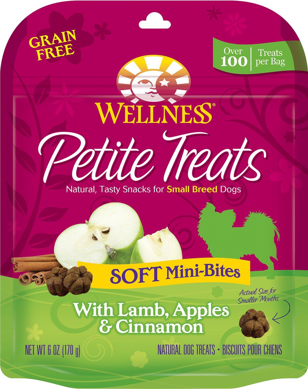 Wellness Petite Treats Soft Mini-Bites with Lamb, Apples & Cinnamon Grain-Free Dog Treats, 6-oz bag