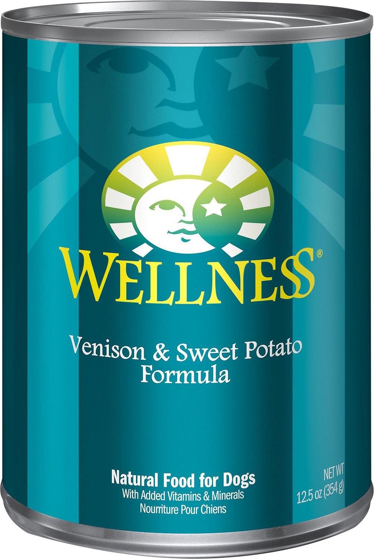 Wellness Complete Health Venison & Sweet Potato Formula Canned Dog Food, 12.5-oz
