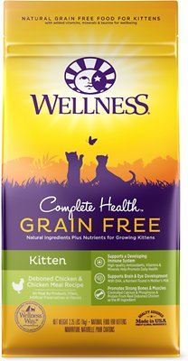 Wellness Complete Health Natural Grain-Free Deboned Chicken & Chicken Meal Dry Kitten Food, 2.25-lb bag